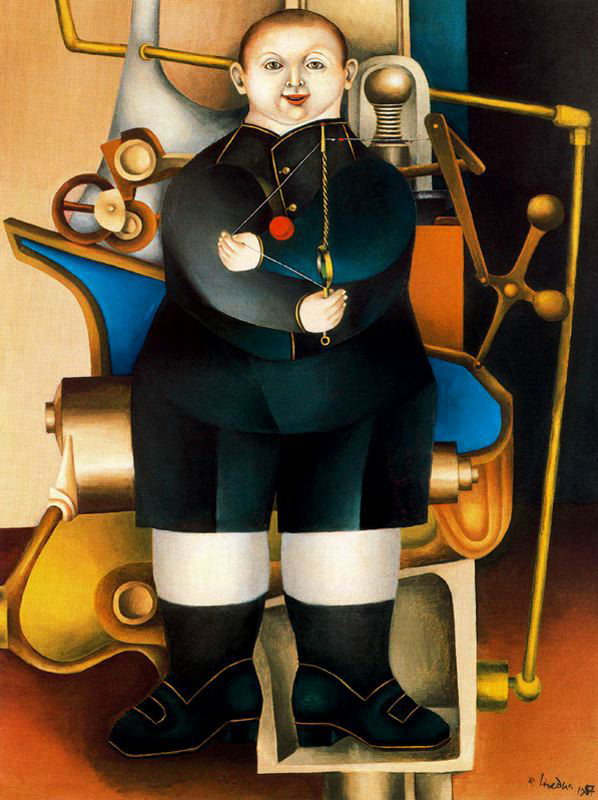 Richard_Lindner_-_Boy_with_Machine_(1954)